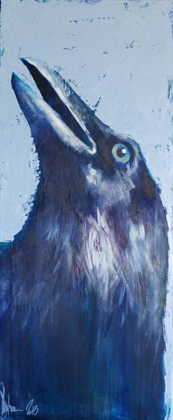 Portrait of a crow, trying to find God in himself. by Igor Shulman