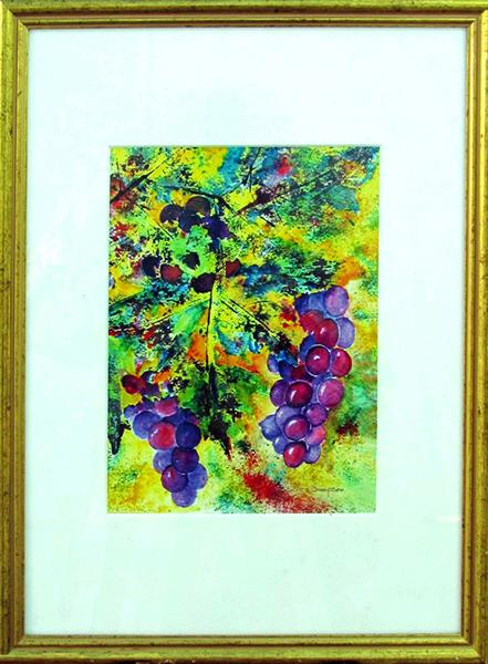 Grapes Among Leaves by Jean Simpson