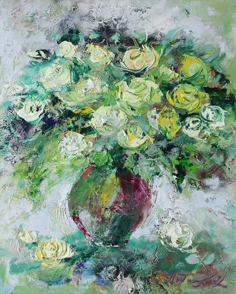 Bright bouquet of roses by Margaret Raven