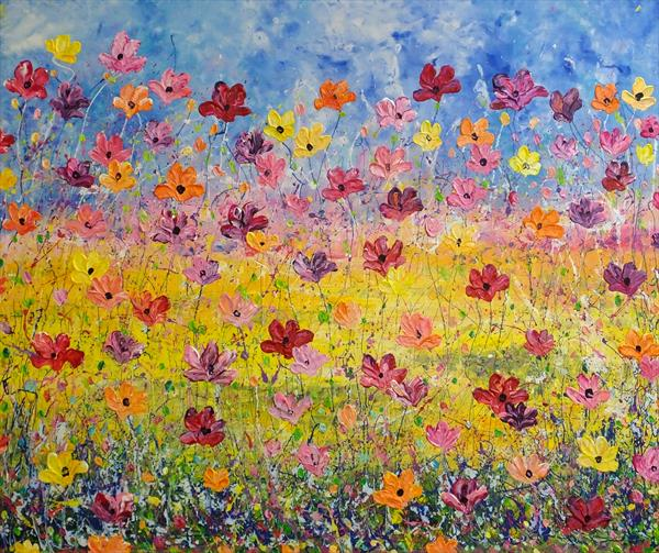 For Relaxation (Large Contemporary Art) by Hester Coetzee