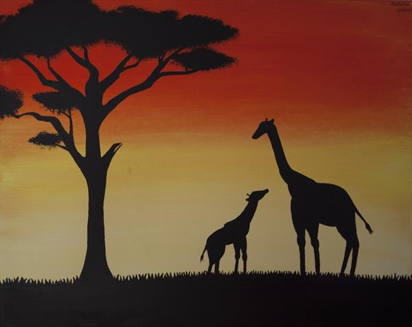 Safari Sunset by Malwina Garrett