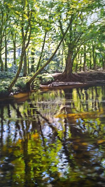 Woodland Reflection #1. by Nancy Robertson