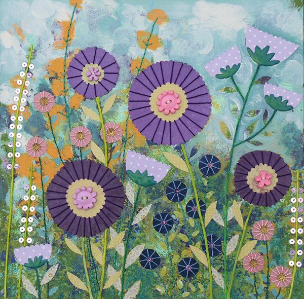 Purple Flowers by Josephine Grundy