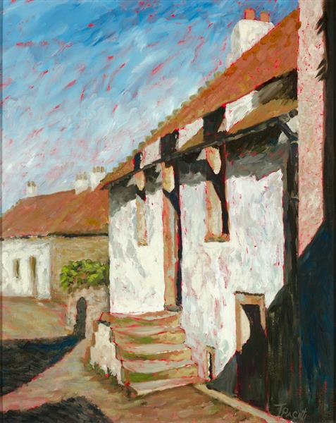 Potter's Cottage - Crail (Framed original) by Tracey Pacitti