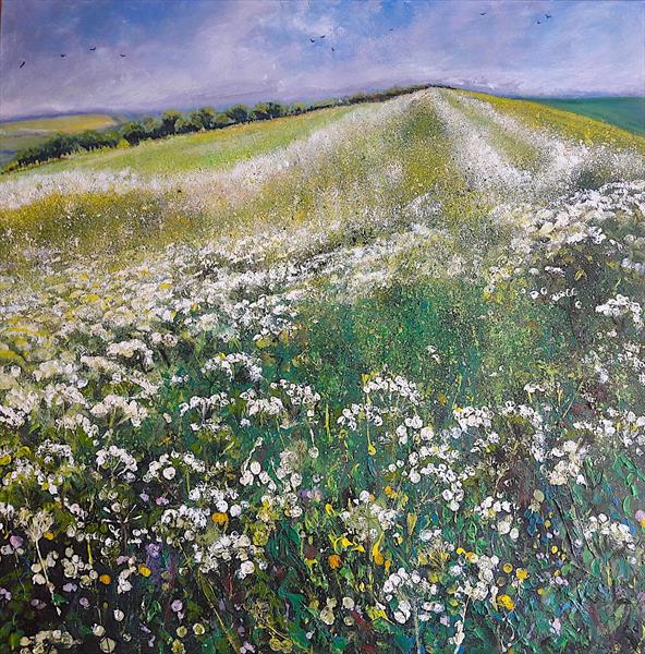 Fields of Cow Parsley (Large) by Teresa Tanner