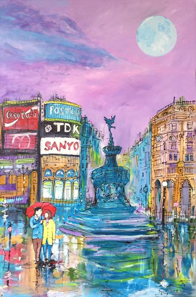 Cloudburst Over Piccadilly (large canvas)