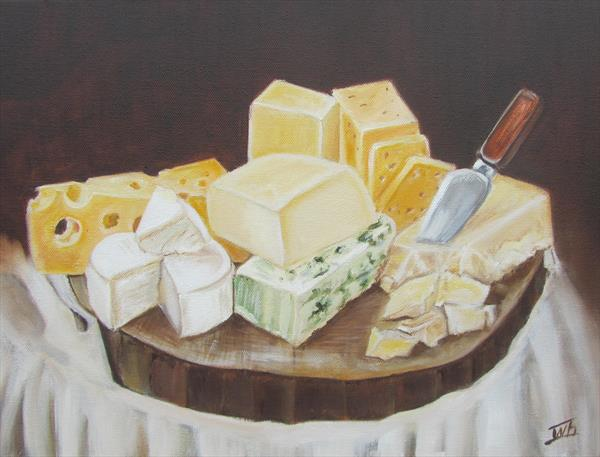 Still life with cheese by Ira Whittaker
