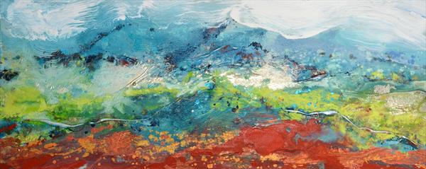 Alpine Landscape by Caroline Ashwood