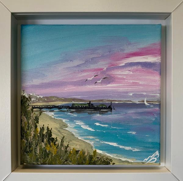 Bournemouth Pier under a Pink Sky by Marja Brown