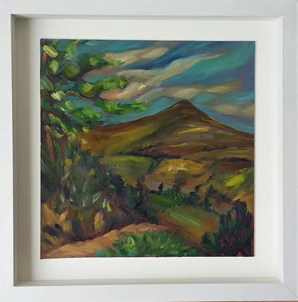 Blue Skies over The Sugarloaf Mountain, Wicklow Ireland by niki purcell