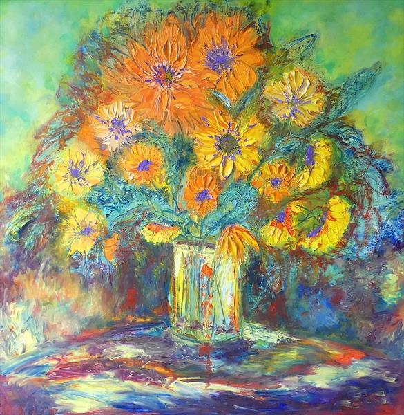 Spanish Sunflowers by Lesley Blackburn