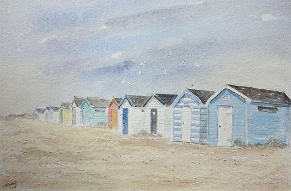 Southwold beach huts - reserved for Jean