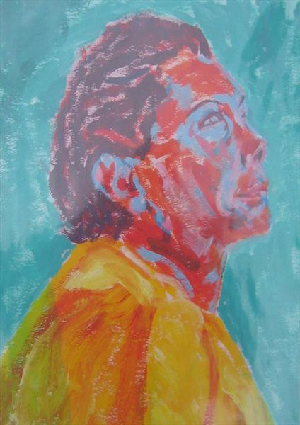 Woman in Yellow by Richard Blacklock
