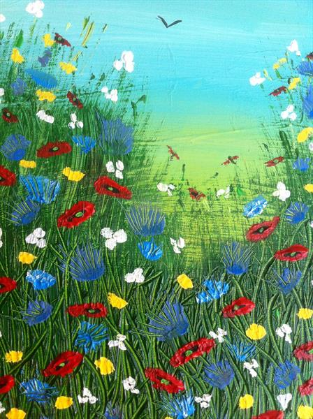 Through the meadow by Cheryl Fears