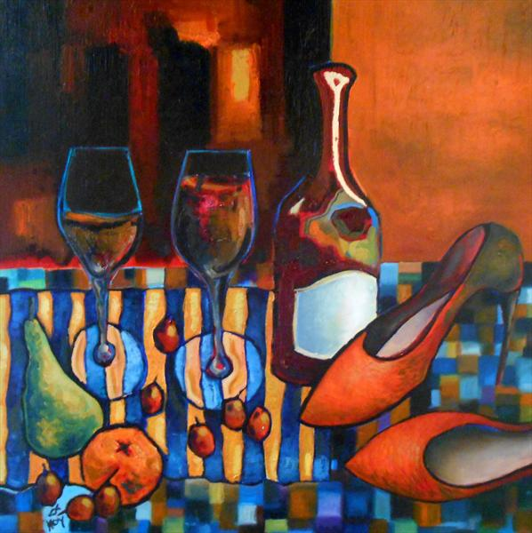 Share a glass of wine with me by Harry Grieve Hoy