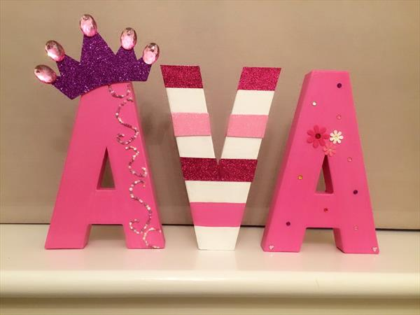 Princess themed letters by Tracy Jolly