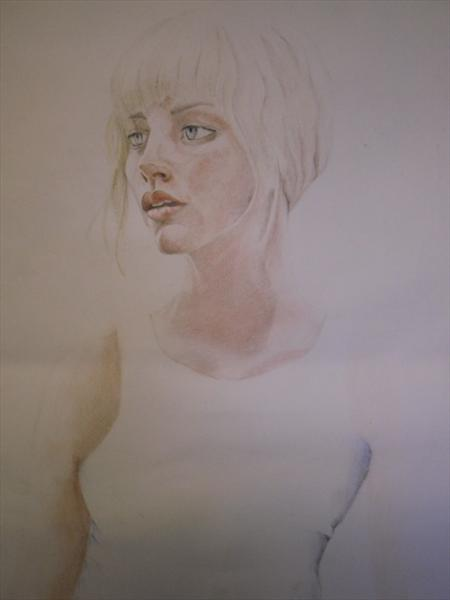 Girl in White Vest by Wayne Coleman