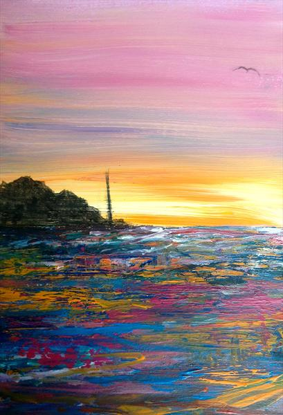 Sunset in Cornwall by Amy Birch