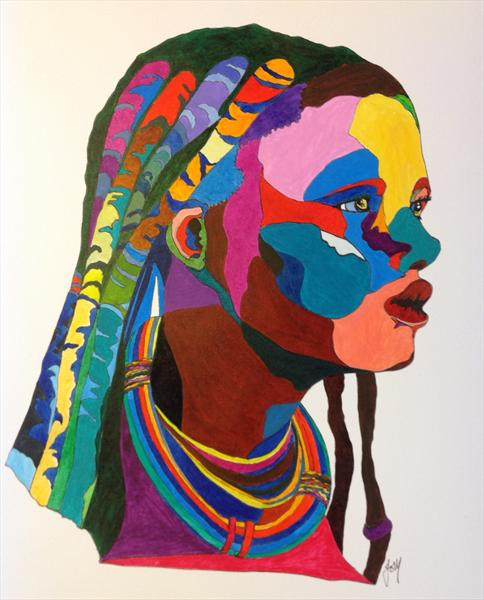 African Woman by Jo Mortimer