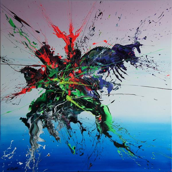 Emotional Release II (Spirits Of Skies 081039) - 90 x 90 cm - XL (36 x 36 inches) by Ansgar Dressler