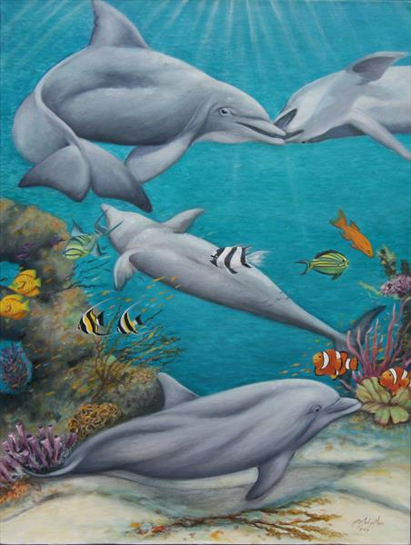 Dolphin Playland by Jane Moore
