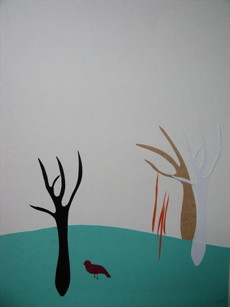 Three Trees and a Bird by Rachael Hogg