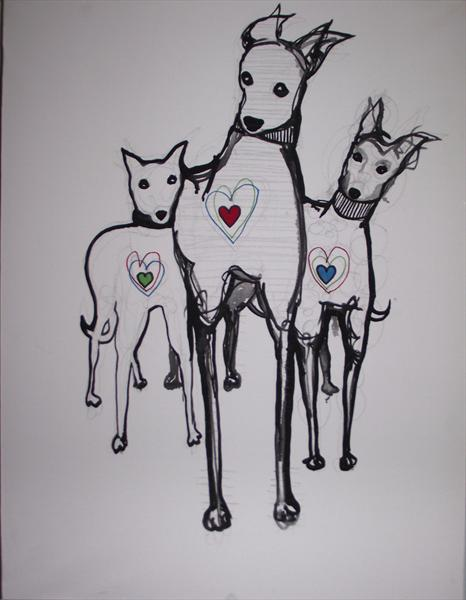 The Three Love Dogs by Shiv Murchie