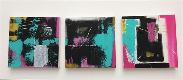 Abstract Triptych by Rosie Cunningham