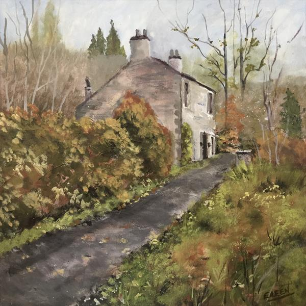 Country Cottage, 1 by Eileen Hood