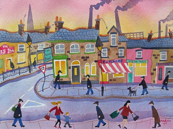 A Street in Atherton by Martin Whittam