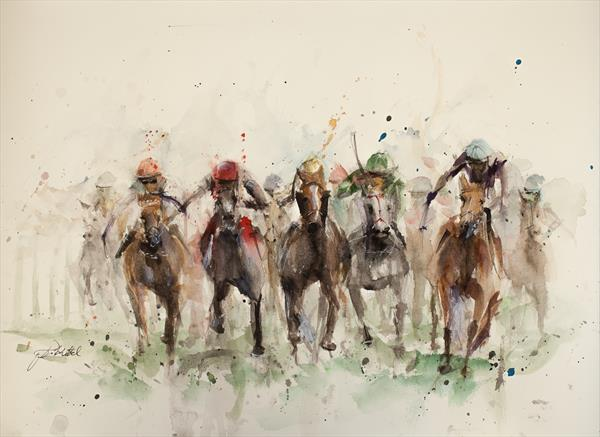Horse Racing by Tomasz Mikutel