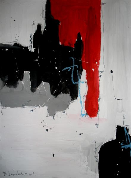 Red # 24, Abstract paper collection (2016)