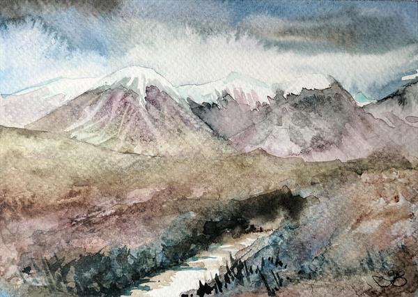 Mountain Stream, Skye by Tracy Butler