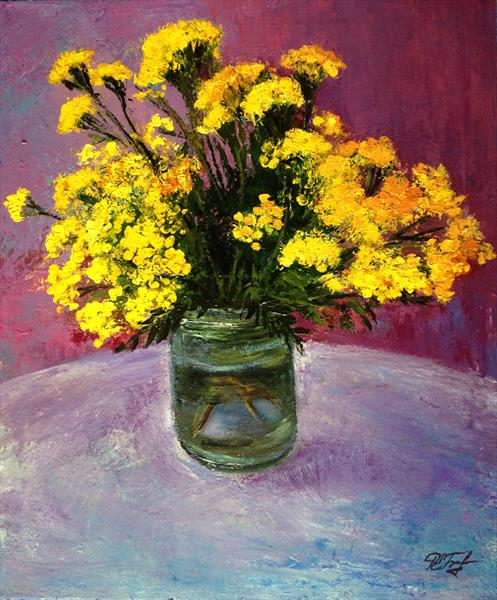 Bouquet of Yellow flowers by Alena Rumak