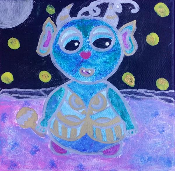 The cosmic baby by Sara Naglic Curis