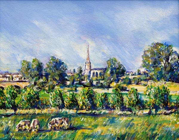 COTSWOLD VALLEY VIEW by Diana Aungier - Rose