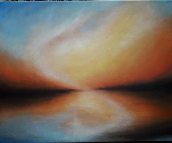 Abstract reflection 1 by sonia turner