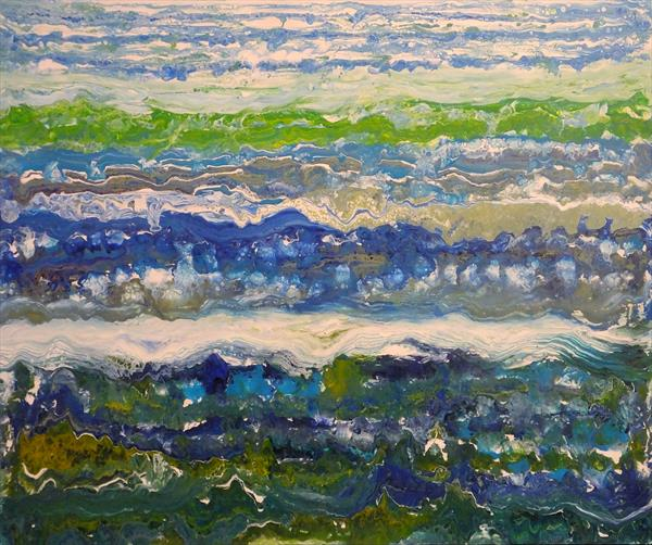 Epiphany Of The Extraordinary (Large Contemporary Seascape) by Hester Coetzee