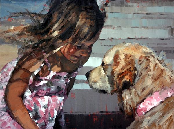 Puppy Love IV - Limited Edition Giclee Art Print  by Claire McCall