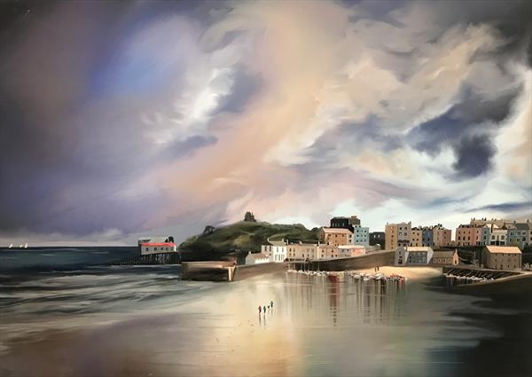 Reflections of Tenby by Christopher Langley