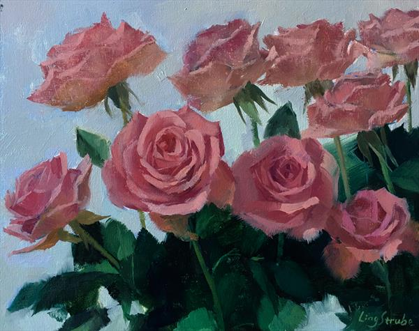 Early Spring Roses by Ling Strube