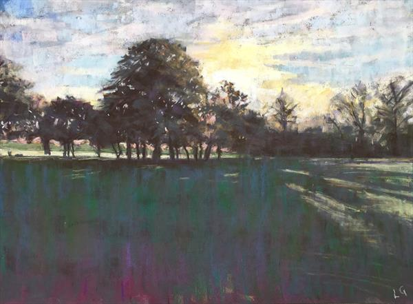 Tree line, Wandsworth Common by Louise Gillard