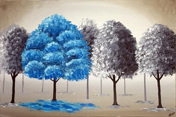 Blue Tree by Aisha Haider