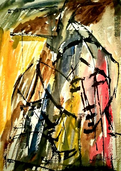 The Couple in Abstract by Artistic Biplob (Asm Ambia)