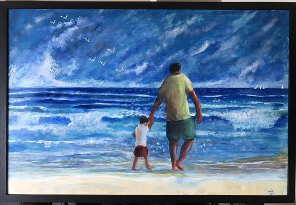 Paddling with Dad by Christopher Langley