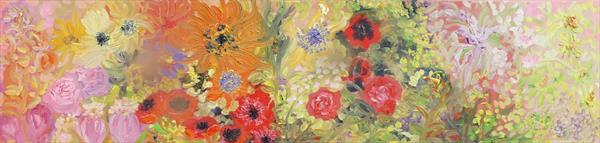 The Flower Panel by Lesley Blackburn