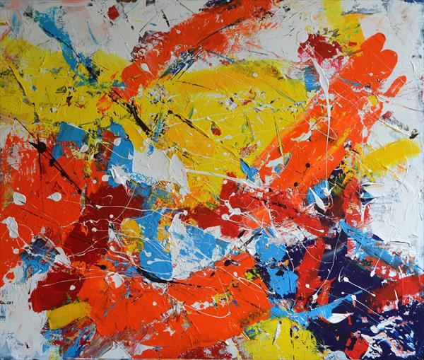 Abstract with Vermilion by Milena Blaziak Cooke