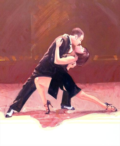 Midnight Tango (Oil Study 8) by Charles Willmott
