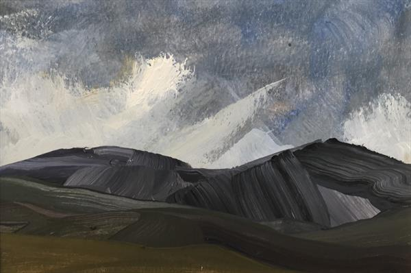 Cool wind over the Peaks ( original oil )  by Sarah Gill