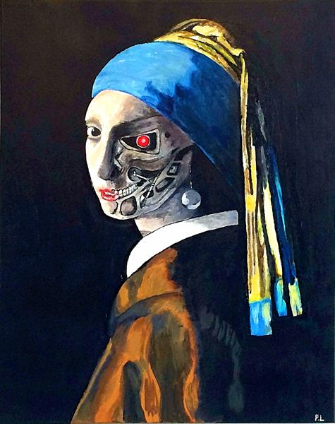 Cyborg with a Pearl Earring by Patrick Lee